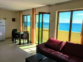 Maisonette on the first line, fully furnished, 50 meters from a sandy beach.